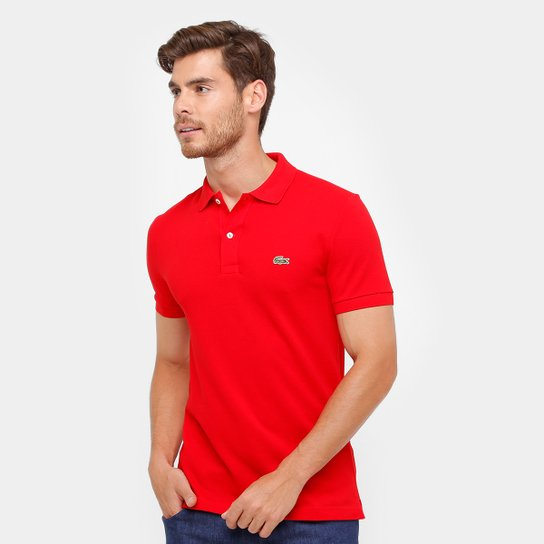 2229383435 Camisa Polo Lacoste Piquet Slim Fit Masculina - Compre Agora