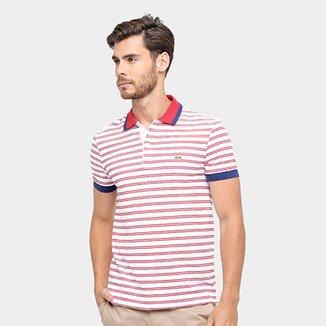 40647af522f Camisa Polo Lacoste Piquet Fit Listras Color Masculina