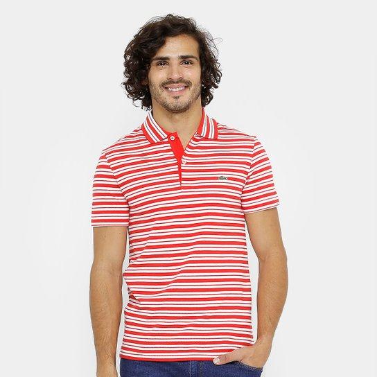 ee60da387c0 Camisa Polo Lacoste Piquet Regular Fit Listras Masculina - Compre ...