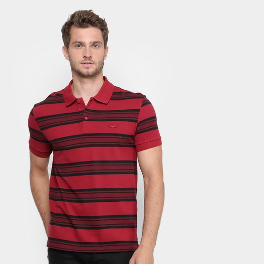 bbe74d8ee5029 Camisa Polo Lacoste Piquet Regular Fit Listras Masculina - Compre ...