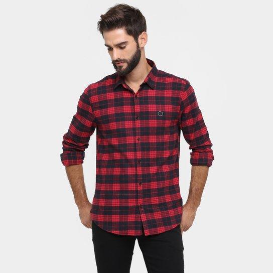 Camisa Calvin Klein Slim Fit Xadrez Flanelado Print Costas - Compre ... 147762dff6