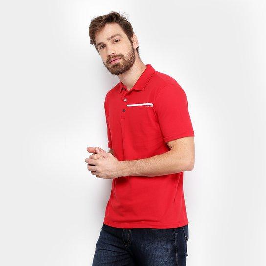 3c3ed7af4 Camisa Polo Calvin Klein Piquet Básica Masculina - Vermelho - Compre ...