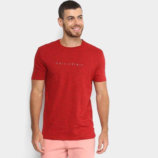 a7002002a2fde Camiseta Calvin Klein Mescla Slim Masculina - Compre Agora   Zattini