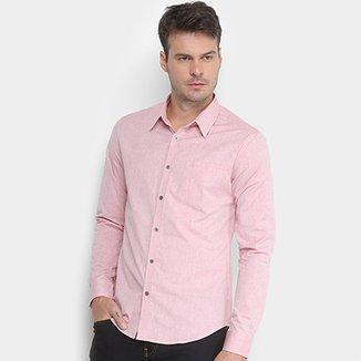 Camisa Manga Longa Calvin Klein Chambray Geneva Masculina 811c897a7a