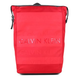 80af9015b464d Mochila Calvin Klein Quadrada Emborrachada