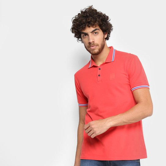 8b18429c4 Camisa Polo Calvin Klein Manga Curta Masculina - Vermelho - Compre ...