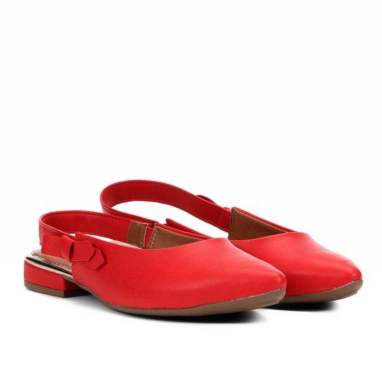 d5d70e4da Sapatilha Mississipi Chanel Bico Fino Laço Feminina - Vermelho | Zattini