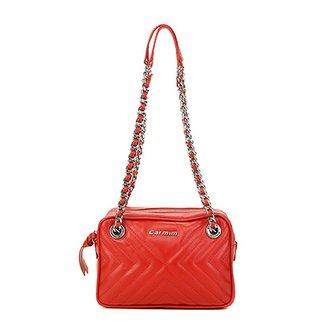 c0b250cead Bolsa Couro Carmim Mini Bag Alana Transversal Feminina