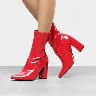 0ac07867fd Ankle Boot Via Marte Meia Pata c Zper Vinho Zattini Saltos em