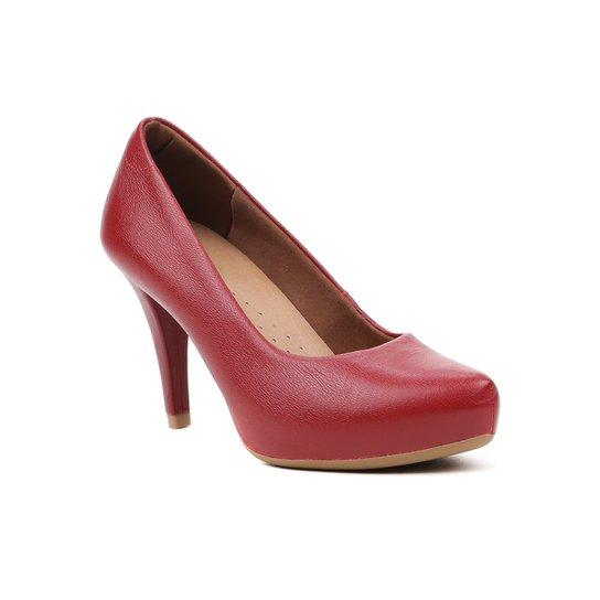 30ecc35091 Sapato de Salto Feminino Usaflex Vermelho - Compre Agora
