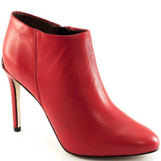 58773a917c Bota Couro Cano Curto Bottero Feminina - Vermelho - Compre Agora ...