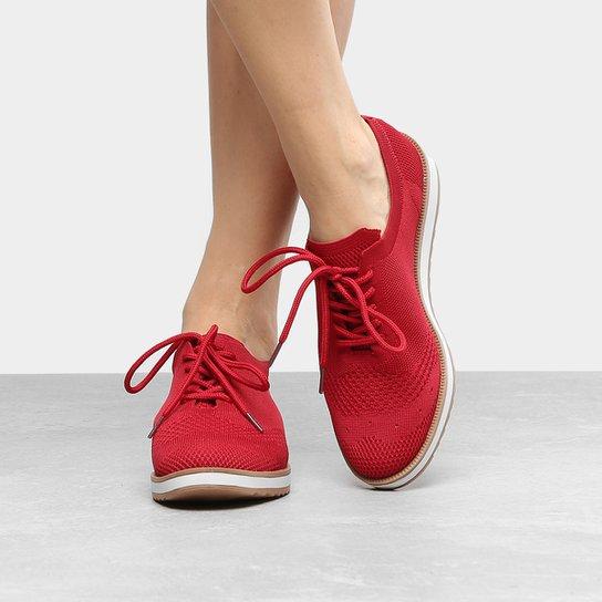 588667f2be3 Tênis Dakota Cabedal Meia Feminino - Vermelho - Compre Agora