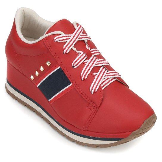 70f443cde62 Tênis Anabela Dakota Feminino - Vermelho - Compre Agora