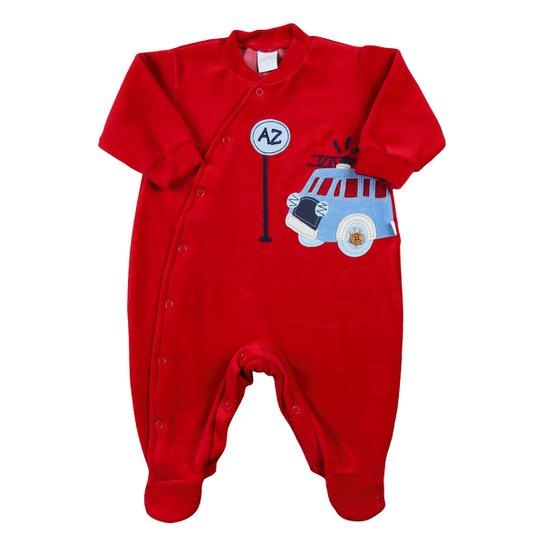 Macacão Bebê Plush Caminhão de Bombeiro - Vermelho - Compre Agora ... 6f6f114b6ec