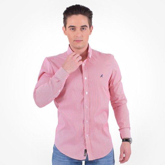 44f7d9562e676 Camisa Social Listrada Masculina - Slim - Vermelho - Compre Agora ...