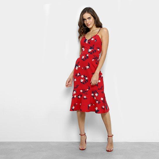 3469e232f Vestido Maria Filó Peplum Midi Floral - Compre Agora