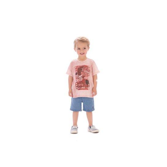 813e2463fc Camiseta Infantil Up Baby Com Estampa de Dinossauro Masculina - Vermelho