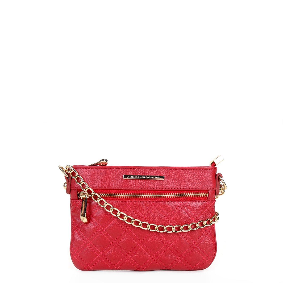 589c24a78 Bolsa Couro Jorge Bischoff Mini Bag Basic Feminina