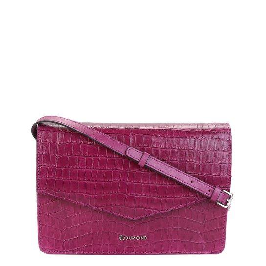 ed99d73fa Bolsa Couro Dumond Flap Transversal Feminina - Pink | Zattini