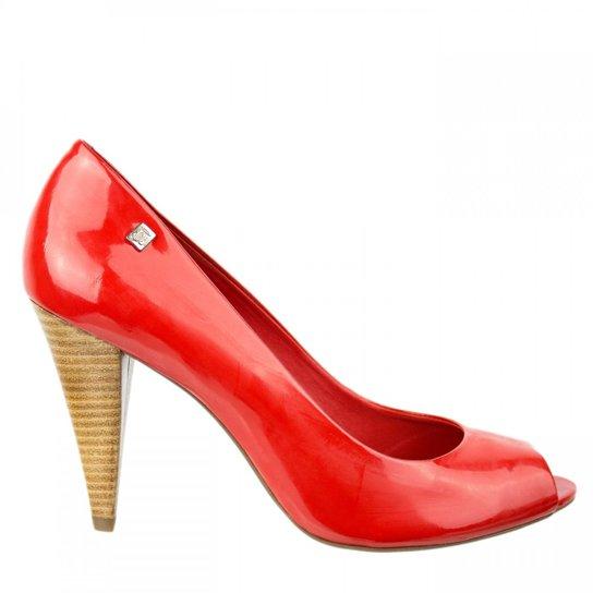 5e96804f8 Sapato Peep Toe Loucos e Santos - Vermelho | Zattini