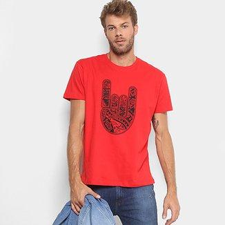 e1c6e1b94f Camiseta Triton Estampada Manga Curta Masculina