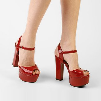 3dbe6a731f Sandálias Di Cristalli Vermelho - Calçados