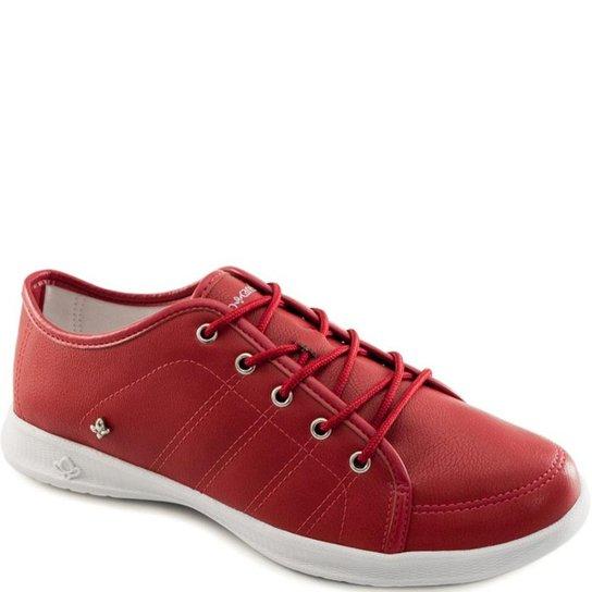 227cd632c1a Tênis Casual Confortável Cravo e Canela Feminino - Vermelho - Compre ...