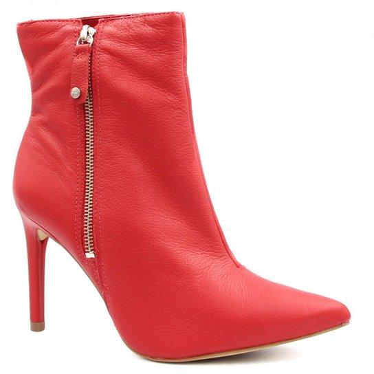 3d1e1552b Bota Cano Curto Tanara Ankle Boot Salto Alto Feminina - Compre Agora ...