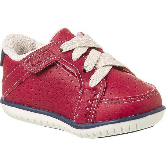 c1525f4ef4 Sapato Bebê Masculino Klin Cravinho Casual Elástico - Vermelho ...