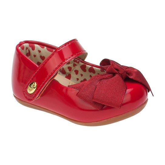 b305fd1b50 Sapatilha Bebê Klin Cravinho Princess Corações - Vermelho - Compre ...
