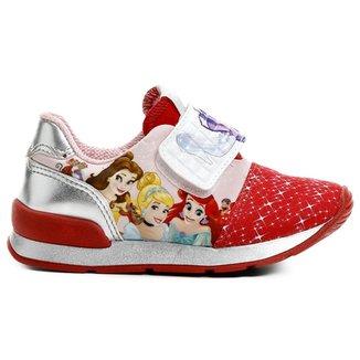 eb9e557697 Tênis Diversão Jogging Princesas Velcro Infantil
