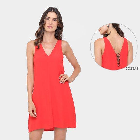 fb82be172 Vestido Colcci Evasê Curto Detalhe Metalizado Costa - Vermelho | Zattini