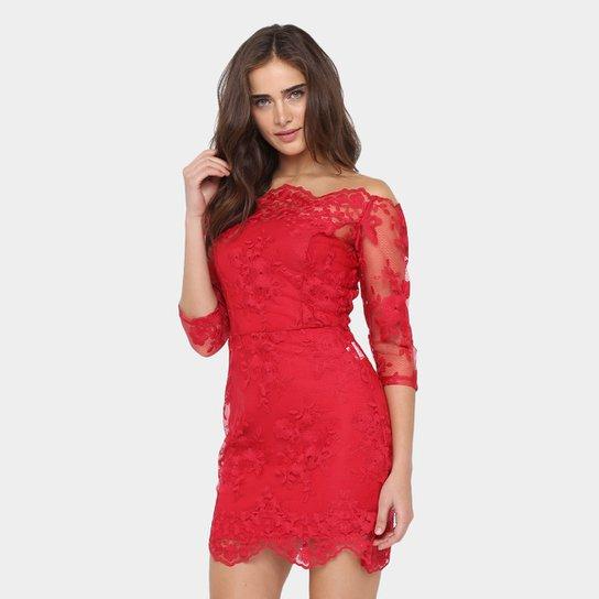773f6378c Vestido Colcci Curto Renda Floral - Compre Agora | Zattini