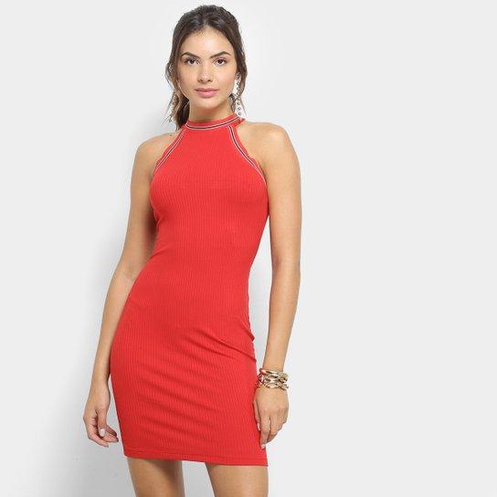 ff97f886a Vestido Colcci Tubinho Curto Canelado - Vermelho | Zattini