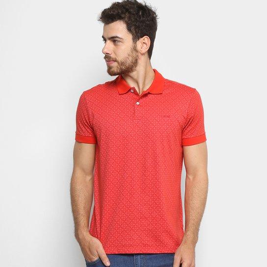9730bcf722 Camisa Polo Estampada Colcci Manga Curta Masculina - Vermelho ...