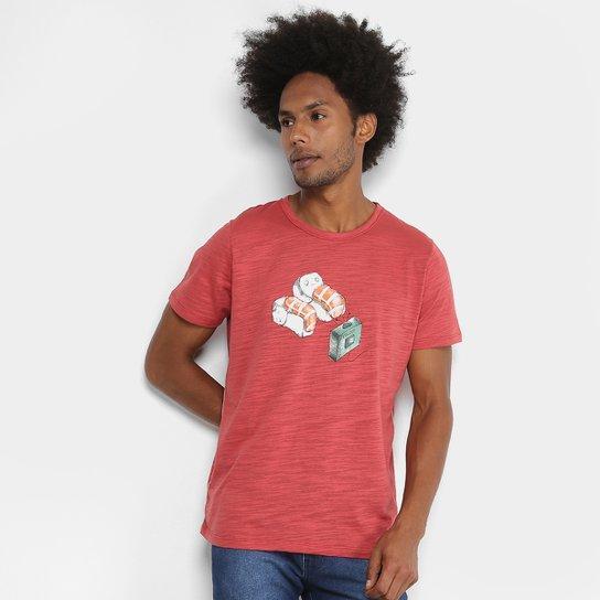 Camiseta Manga Curta Colcci Estampada Masculina - Vermelho - Compre ... c5eb176d78429