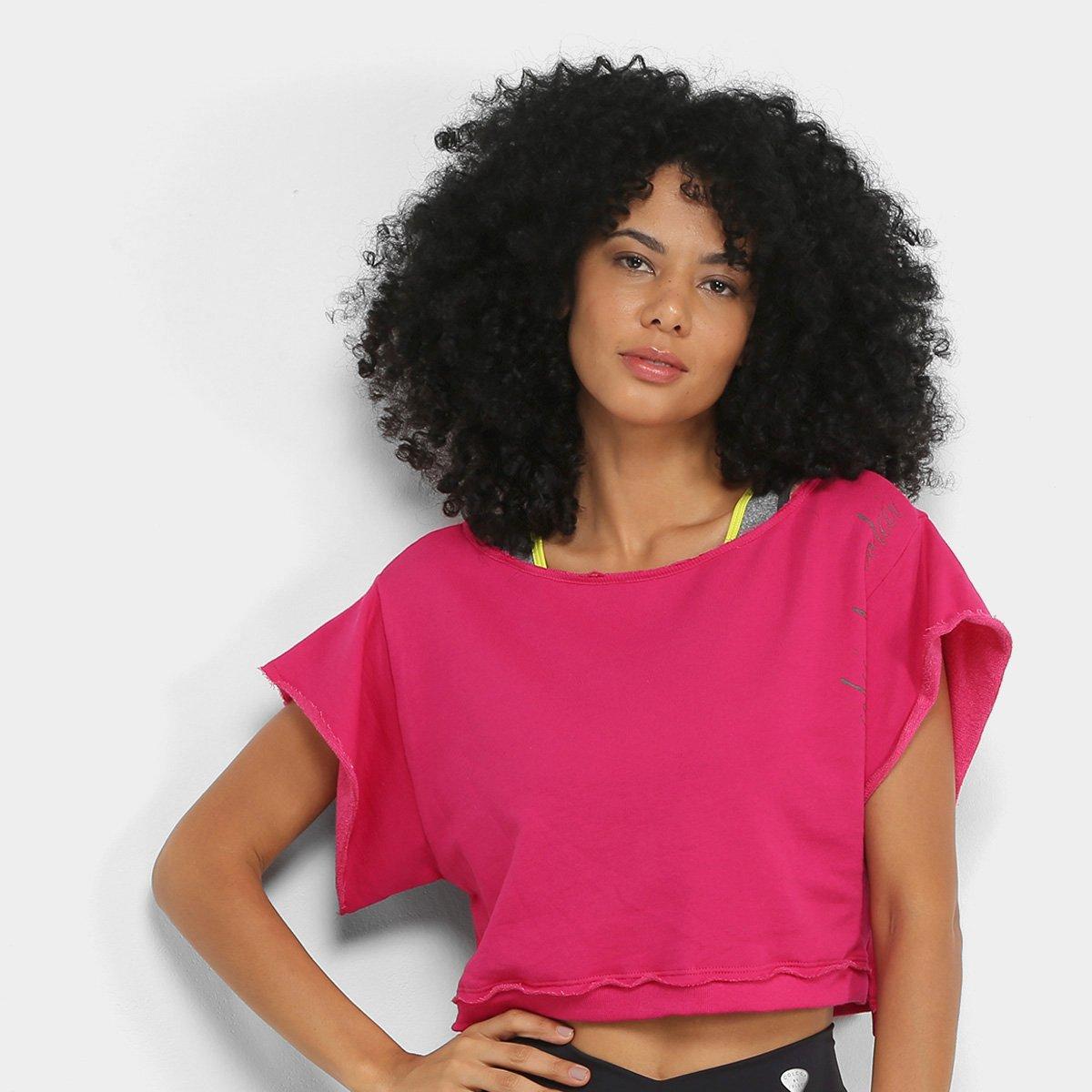 Moletom Cropped Colcci Fitness Colors Feminino