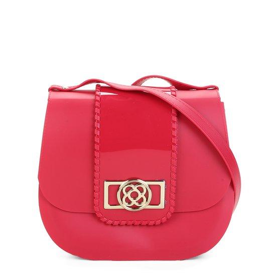 1d953fbaf3 Bolsa Petite Jolie Flap Detalhe Verniz Alça Transversal Saddle Bag Feminina  - Vermelho
