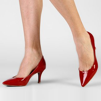 3577bd3892 Scarpins My Shoes Feminino Vermelho - Calçados