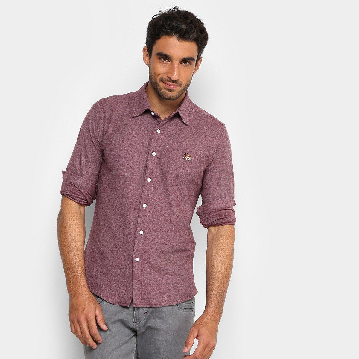 a6f52450fe Camisa RG 518 Bordado Malha Masculina