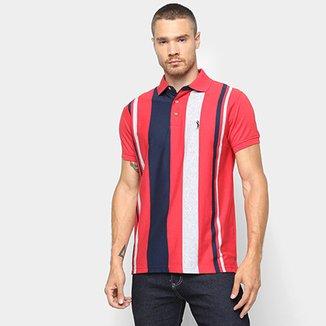 Camisa Polo Aleatory Fio Tinto Listrada Masculina 9a485e280c8