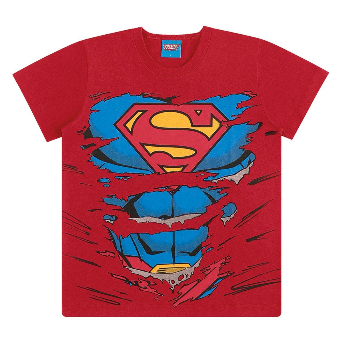 Camiseta Infantil Kamylus Espuma Liga Da Justiça Masculina