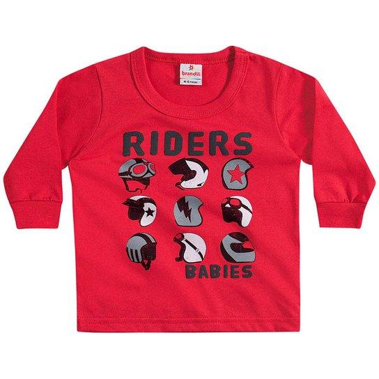 Camiseta Bebê Manga Longa Riders Brandili Masculina - Vermelho ... 056641f80083b