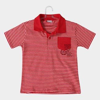 6cd369d3ae Camisa Polo Infantil Fakini Kids Listrada Bolso Masculina