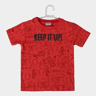 95ea2fb533484 Camiseta Infantil Fakini Keep It Up Masculina