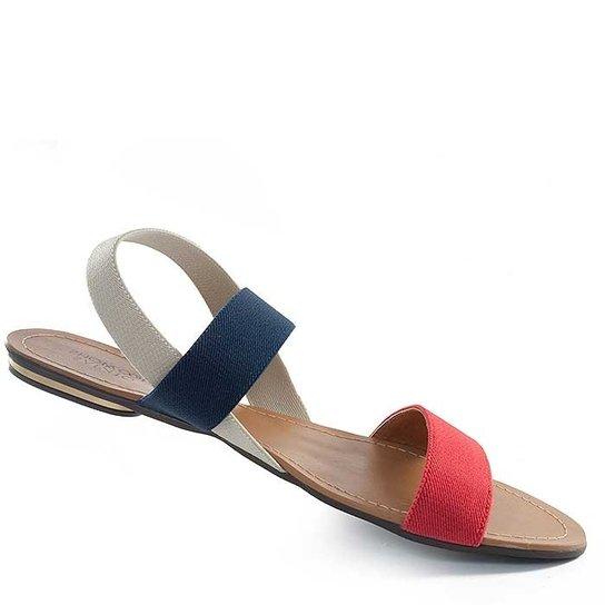 d52649c9b1 Rasteira Elástico Sapato Show Numeração Grande - Marinho e Vermelho ...