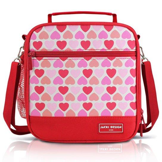 f60cccec9 Lancheira Térmica Infantil Jacki Design Coração Microfibra Feminina -  Vermelho