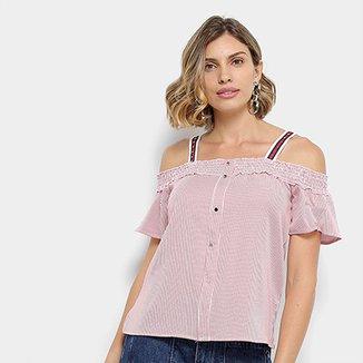 Blusa Lily Fashion Open Shoulder Feminina 144a6bc090d55