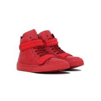 1d8b25d129 Tênis Couro Sneaker K3 Fitness Skull Velcro