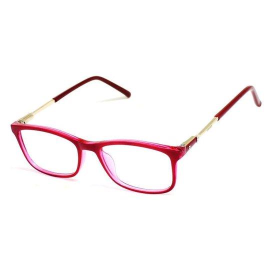 a16496c03f597 Armação De Óculos De Grau Feminino Casual Cannes 161 T 46 C - Vermelho
